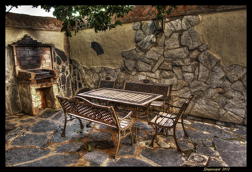Maintaining courtyards, driveways and patios