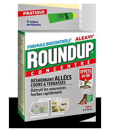 Roundup Desherbant Allees, Cours Et Terrasses Concentre en Tubes Pré-dosés (6 Tubes 450ml)