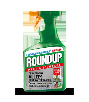 Roundup Action Rapide Allées et terrasses 1,2L Effets 1H*