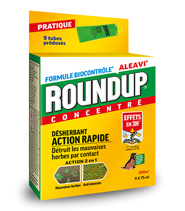 Roundup Desherbant Action Rapide - Tubes Pre-doses 675ml